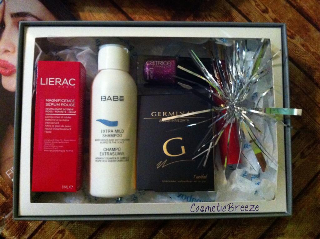 Guapabox Diciembre de 2014 - Contenido de la cajita de belleza