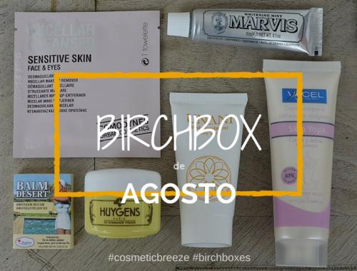 BIRCHBOX de Agosto 2015 - Nuevas Aventuras - Contenido