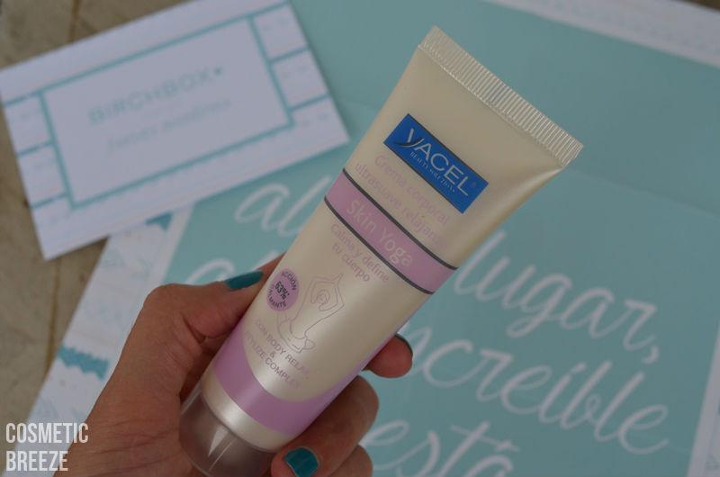 BIRCHBOX de Agosto 2015 - Nuevas Aventuras - Yacel - crema corporal ultrasuave - Skin Yoga