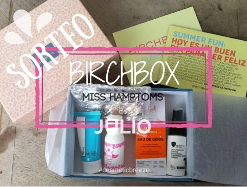 Birchbox Julio 2015 Miss Hamptons - Sorteo cajita birchbox miss hamptons