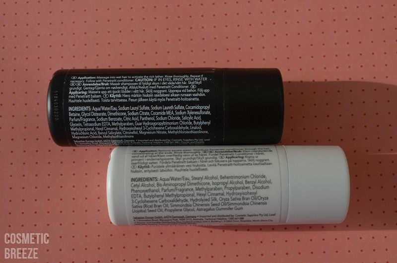 LOOKFANTASTIC BEAUTY BOX SEPTIEMBRE 2015 ANIVERSARIO - champú y acondicionador - Sebastian ingredientes
