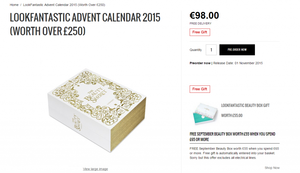 lookfantastic.com advent calendar