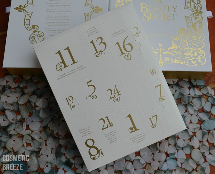 CALENDARIO DE ADVIENTO DE LOOKFANTASTIC 2015 completo por dentro