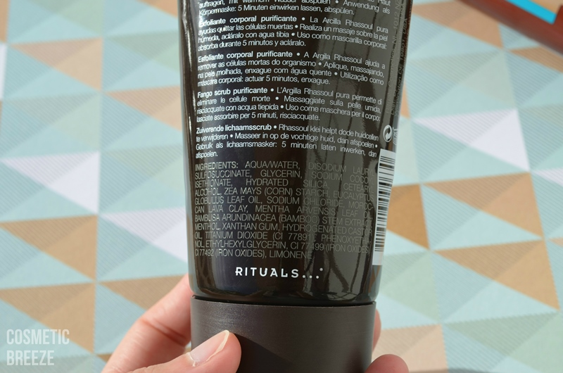 Rituals hammam body mud ingredientes