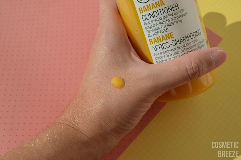 THE BODY SHOP - BANANA CONDITIONER - ACONDICIONADOR DE PLÁTANO TEXTURA