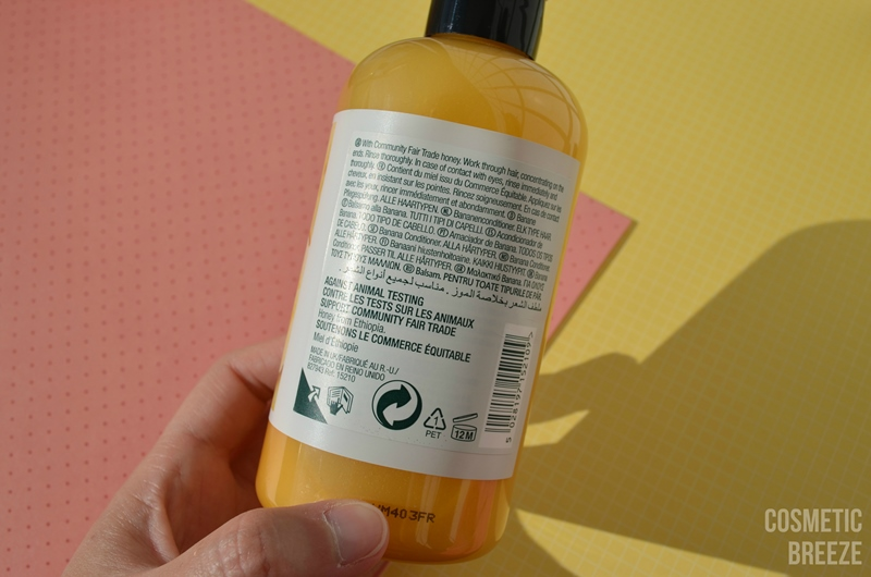 THE BODY SHOP - BANANA CONDITIONER - ACONDICIONADOR DE PLÁTANO TRASERA ENVASE