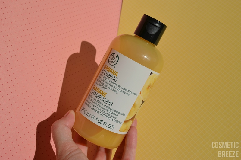 THE BODY SHOP - BANANA SHAMPOO - CHAMPÚ DE PLÁTANO COLORES ENVASE