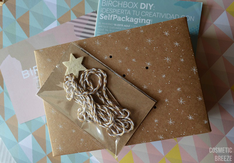 birchbox noviembre 2015 - kit selfpackaging para decorar mi cajita con una estrella