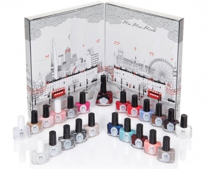 ciaté london mini mani month advent calendar 2015 plus three liquid velvet trio