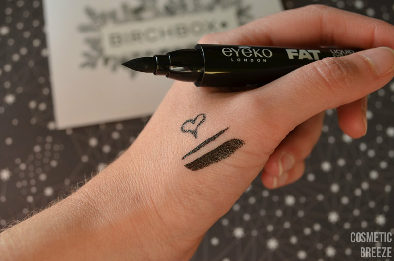 BIRCHBOX DE DICIEMBRE - EYEKO FAT LIQUID EYELINER PUNTA COLOR Y SWATCHES