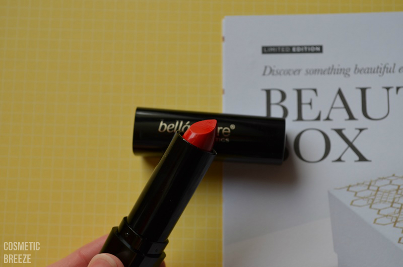 LOOKFANTASTIC BEAUTY BOX DE NOVIEMBRE - BELLAPIERRE Cosmetics - lipstick - labial rojo