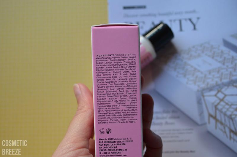 LOOKFANTASTIC BEAUTY BOX DE NOVIEMBRE - OLE HENRIKSEN Leche limpiadora espumosa - ingredientes