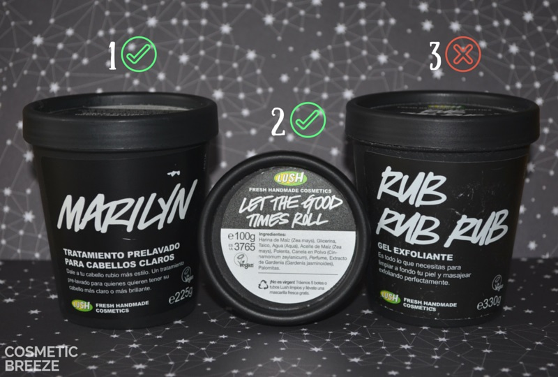 PRODUCTOS TERMINADOS de diciembre vol1 LUSH MARILYN - RUB RUB RUB - LETS GOOD TIMES ROLL
