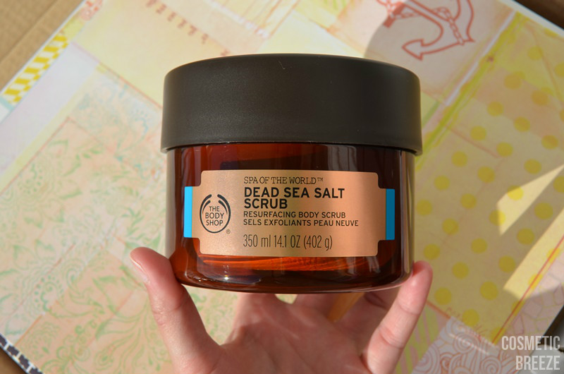 the body shop - spa of the world - dead sea salt scrub portada tamaño enorme del envase