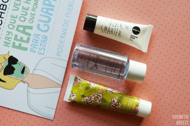 birchbox de enero con moderna de pueblo - serum cream, soapandpaper, tonico des anges