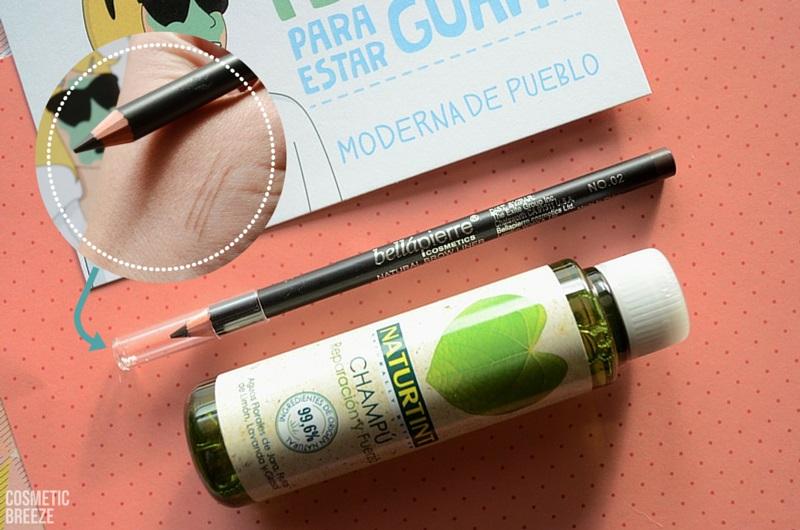 birchbox de enero con moderna de pueblo - champú naturtint y eyebrow liner bellapierre