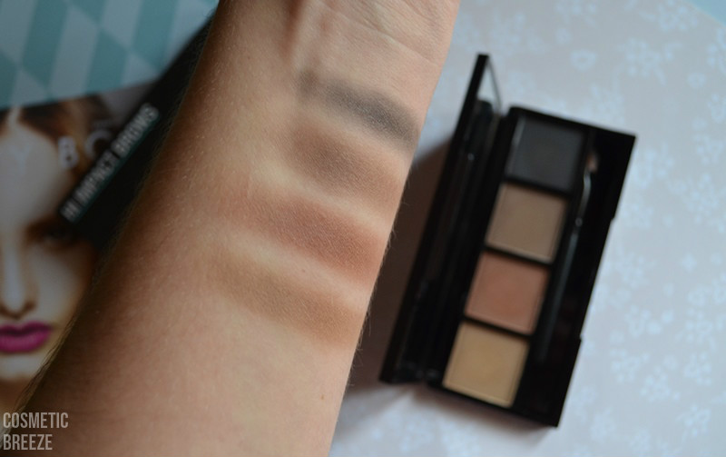 LOOKFANTASTIC BEAUTY BOX DE FEBRERO LFLOVES - HI IMPACT BROWS PERFECTOR PALETTE SWATCH - TONOS