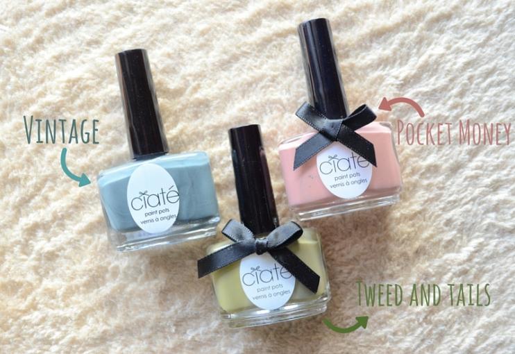 Manicure monday - Manicura francesa de colores Ciaté - tonos utilizados