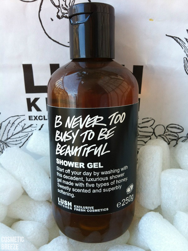 lush kitchen - productos terminados - B Never Too Busy To Be Beautiful envase