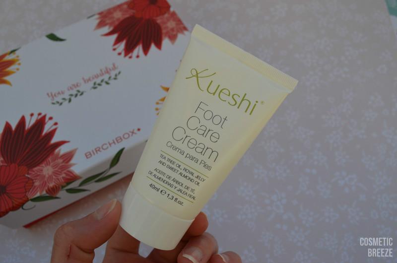 BIRCHBOX DE MARZO SPRING BREAK - Kueshi foot care cream