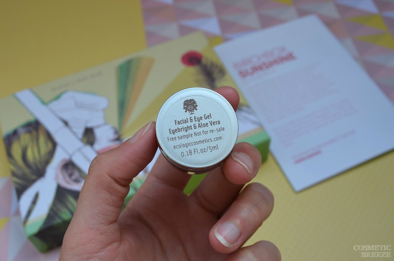 Birchbox de Mayo 2016 - Ecologic Cosmetics Facial and Eye gel - Eyebright and Aloe Vera