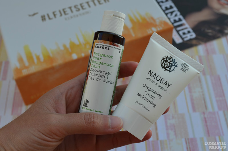 Lookfantastic Beauty Box de Junio 2016 - Gel Ducha Korres y Crema Hidratante Oxigenante de Naobay