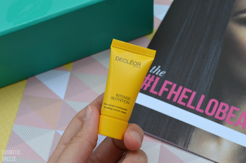 Lookfantastic Beauty Box de Mayo 2016 - DECLEOR Intense Nutrition