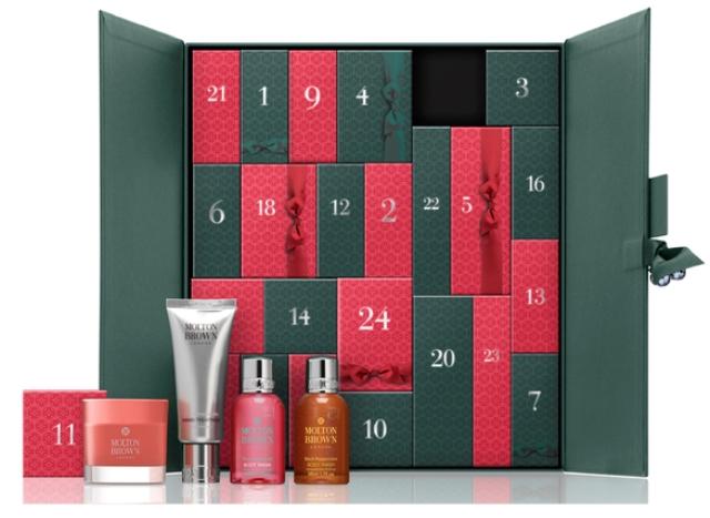 calendarios de belleza de adviento 2016 de lujo - molton brown