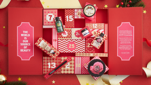 calendario beauty de adviento 2016 de The Body Shop Deluxe - cosmeticbreeze.com