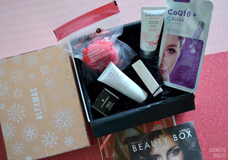contenido de la lookfantastic beauty box de diciembre 2016