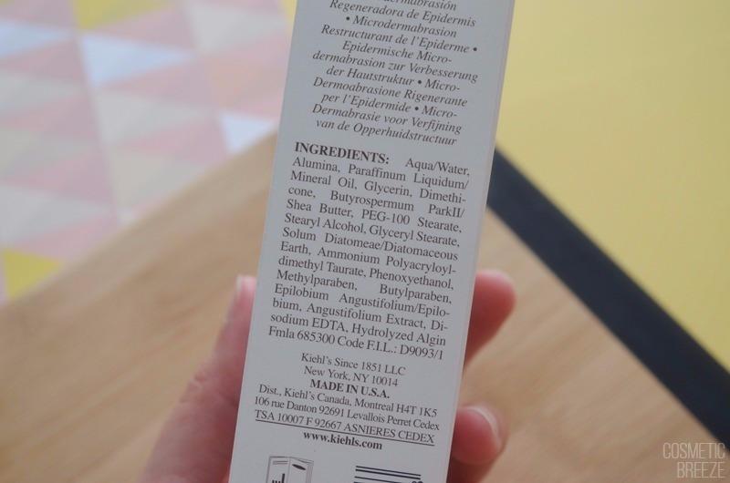 Exfoliante Microdermoabrasión Retexturizante de KIEHLS - Ingredientes