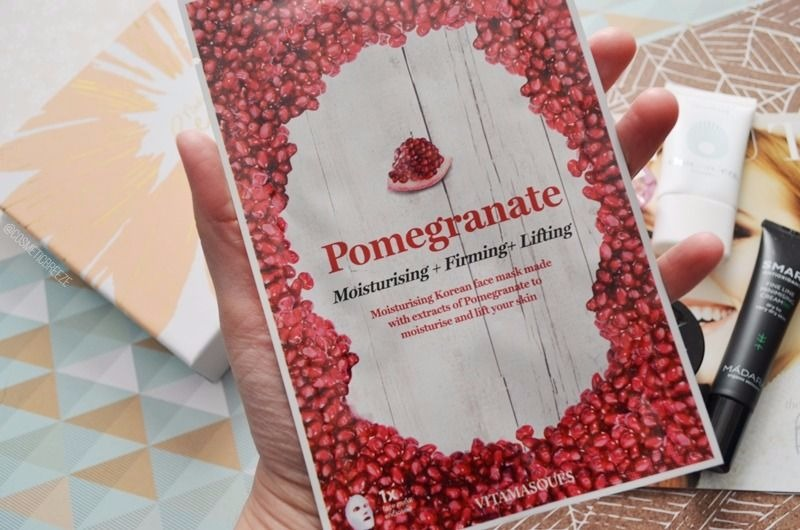 Lookfantastic beauty box de abril 2017 - Vitamasques Pomegranate