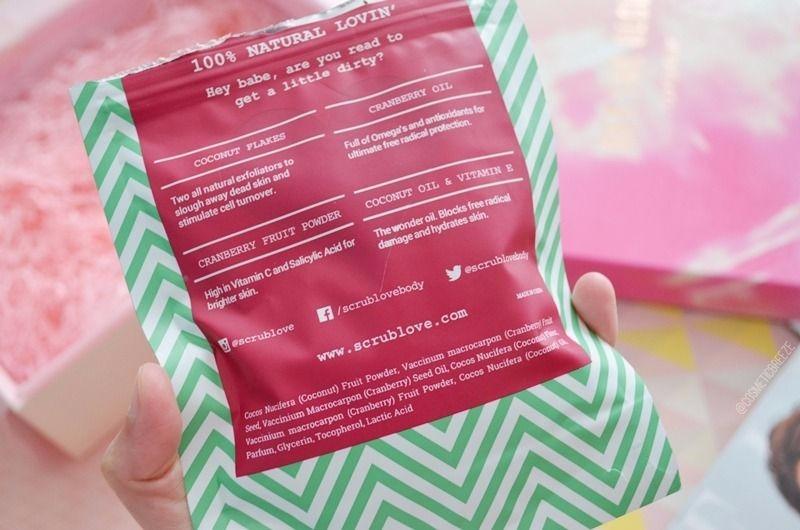 Lookfantastic Beauty Box de Mayo 2017 - Scrub Love Exfoliante Corporal Hidratante Ingredientes