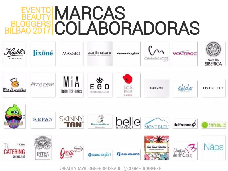evento beauty bloggers bilbao 2017 marcas colaboradoras