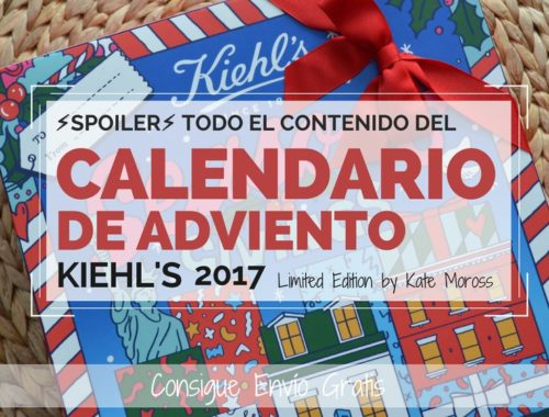 Portada Contenido del Calendario de Adviento Kiehls 2017