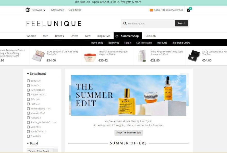 Feelunique Summer Shop Online