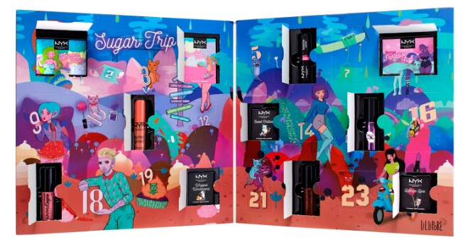 Calendario de adviento de NYX 2018 Sugar Trip - NYX Beauty Advent Calendar