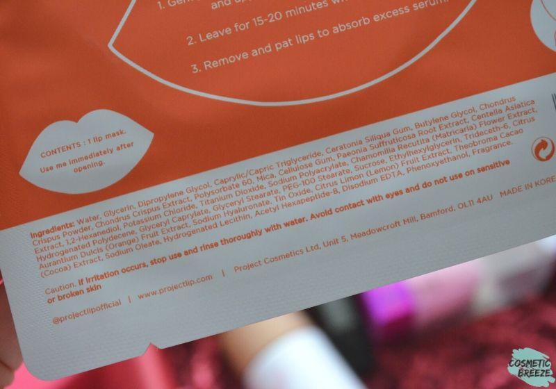 Lookfantastic Beauty Box de Febrero 2020 - PROJECT LIP Mascarilla Labios Ingredientes