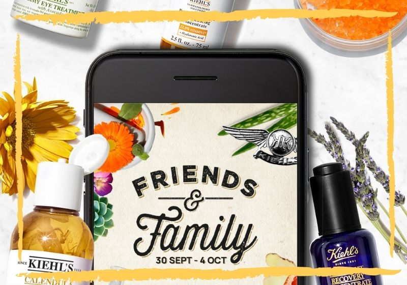 Friends & Family Day Octubre 2020 de KIEHLS